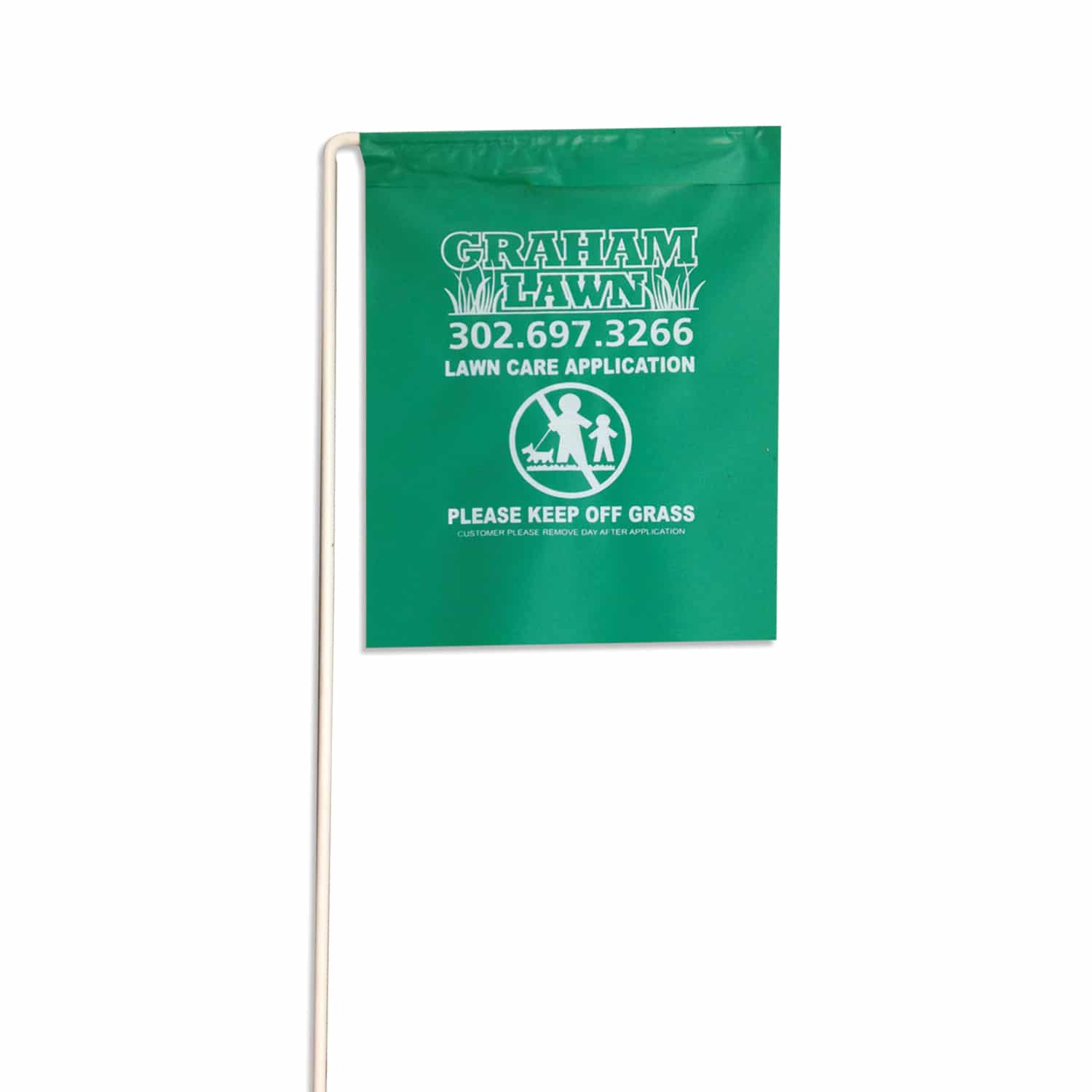 Yellow Marking Flags 100 Pack Lawn Care Application Flag Notice 21 In Tall